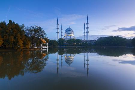 SHAH ALAM, SELANGOR - 27012017: The Beautiful Sultan Salahuddin Abdul Aziz Shah Mosque (Shah Alam Mosque) Editorial