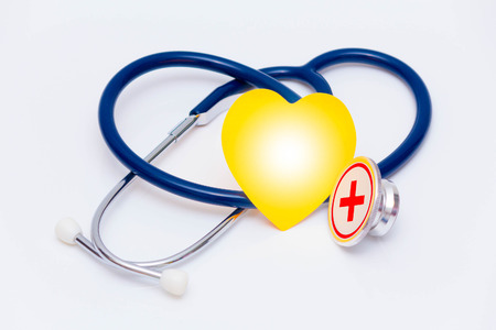 concept with stethoscope and text Stock Photo