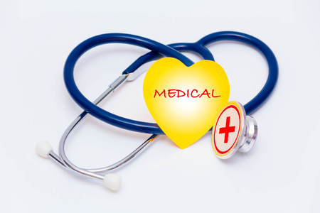 immunodeficiency: concept with stethoscope and text Stock Photo