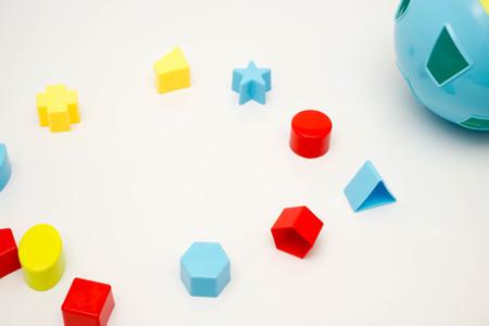 shape sorting ball on white background