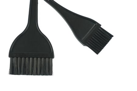 black hair comb with white background