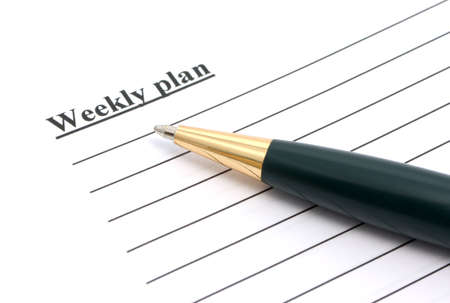 Weekly plan Stock Photo