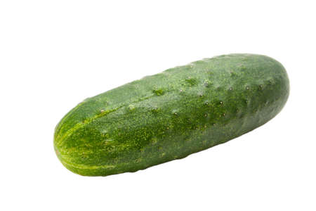 single cucumber isolated on a white background Stock Photo