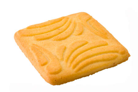 Isolated dry biscuit on a white background