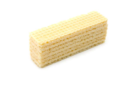 Isolated crackling wafers on a white background Stock Photo - 6059386