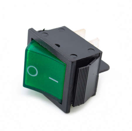 Green switch turned off. Picture on a white background Stock Photo - 6102760