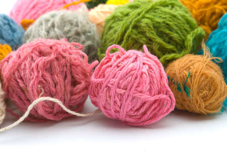 Set of threads for knitting of various colours