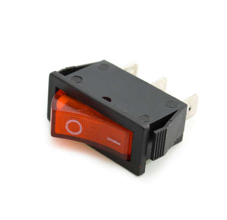 Red switch turned off. Picture on a white background Stock Photo - 6123923