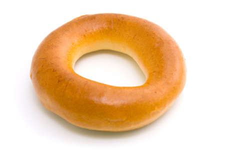 Bagel on a white background. Isolated image