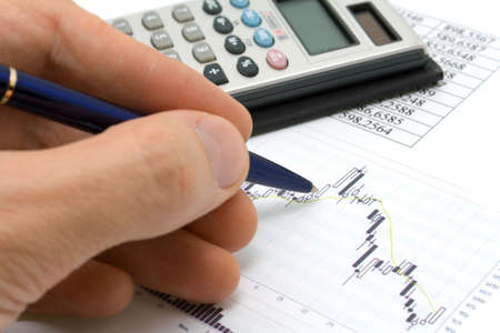 quotations: Business a still-life - check of market quotations   Stock Photo