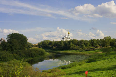 Summer View of Vologda - City in Russia.  Stock Photo