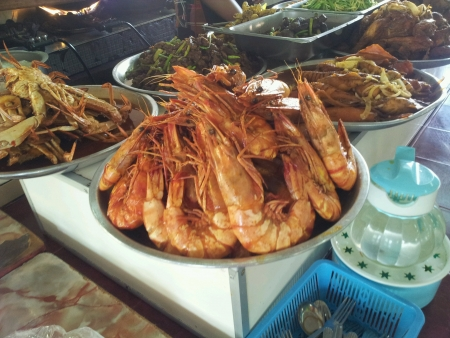 fresh delicous tasty yummy fried prawn for lunch