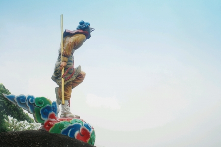 hill of the king: statue of monkey king at broga hill Stock Photo