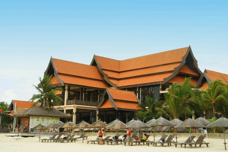 luxurious large hotel resort at redang malaysia