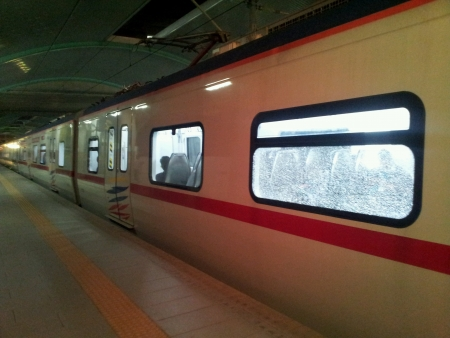train stop at train station kl sentral