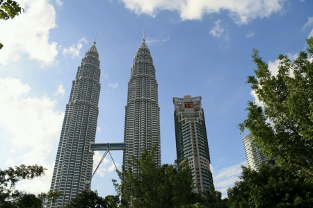 Famous tallest in asia petronas twin towers klcc  Stock Photo