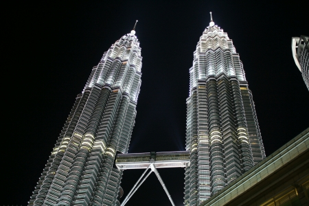 Petronas twin towers klcc at night Stock Photo