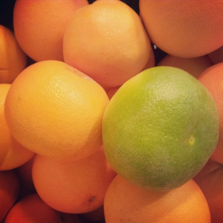 fresh yellow and green oranges