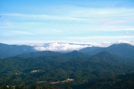 genting highland seen from on top of bukit tabur