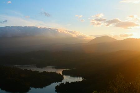 bukit: sunrise view from top of bukit tabur climbing