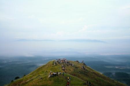 Mount climbing hiking at bukit tabur reserve forest