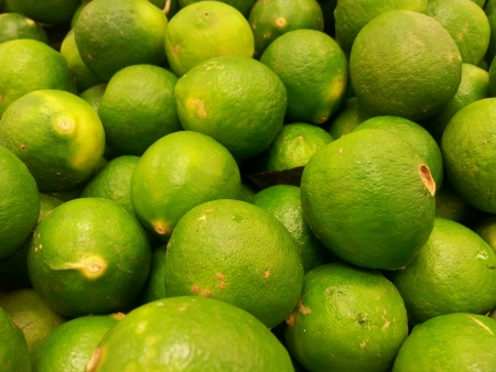 Fresh key limes Stock Photo
