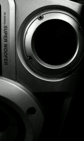 Radio mini hifi in black white
