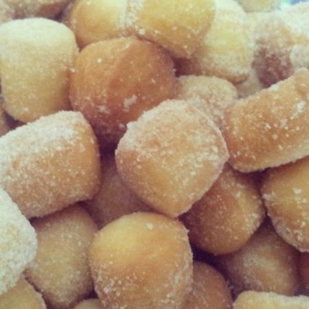 Traditional homemade malay doughnut Stock Photo