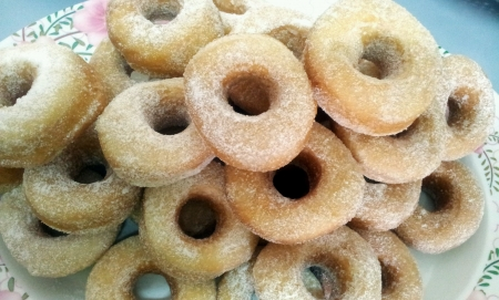 Traditional malay home made doughnut Stock Photo