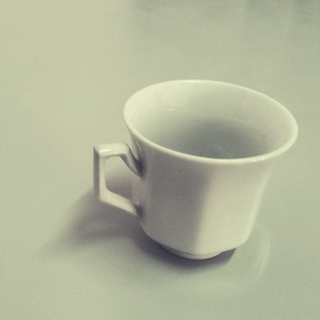 Isolated white teacup