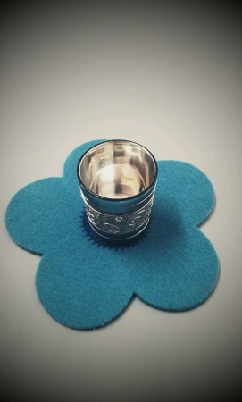 Silver color small container for decoration