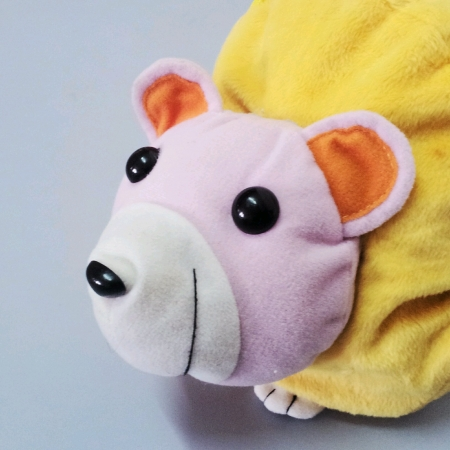 nose: Coloeful toy bag for kids isolated