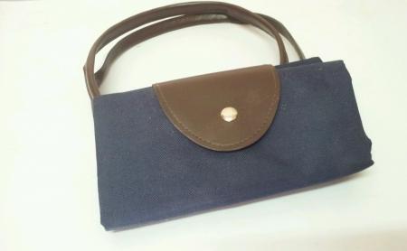 bolsa supermercado: Bolsa de papel azul