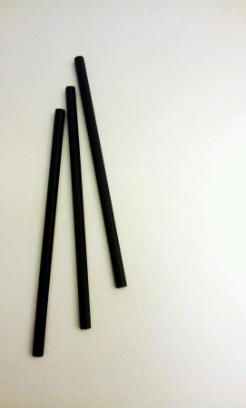 Three black pencils isolated Stock Photo