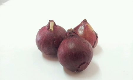 Red onion shallot with white background Stock Photo