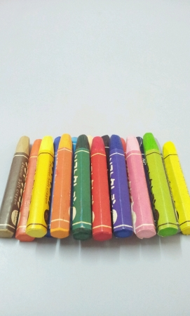 Set of colorful crayons Stock Photo