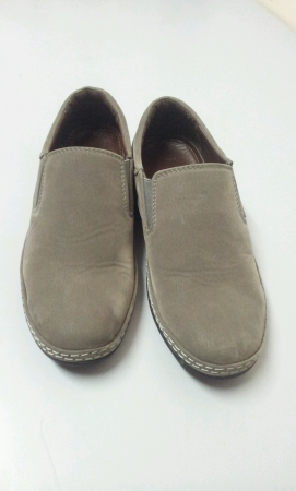 Pair of grey shoe isolated