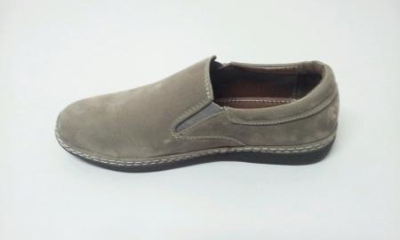 Grey shoe isolated white background