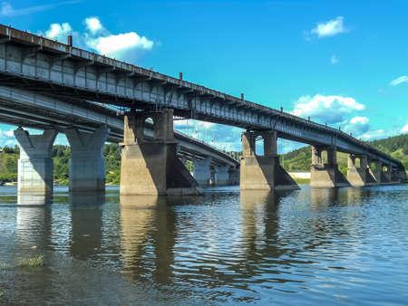 high bridge over the river