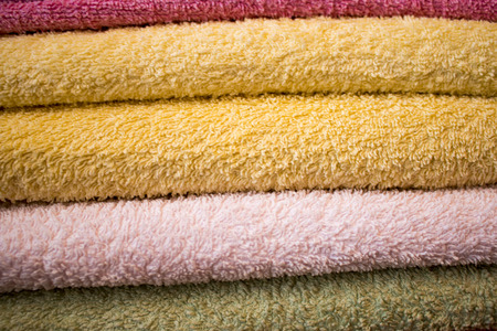 softly: Softly colored towel