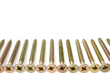 s bolts on a white background isolated photo