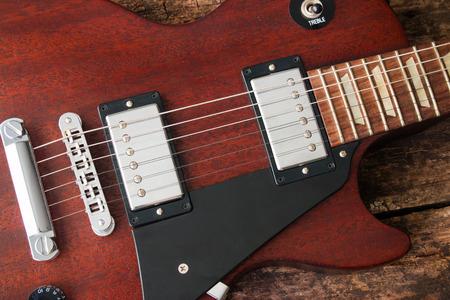paul: Les Paul electric guitar closeup