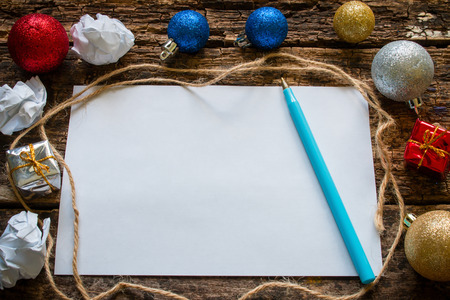 list: list of gifts for Christmas Stock Photo