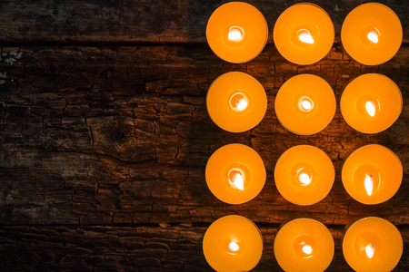 spa candles: flavored spa candles and space for text