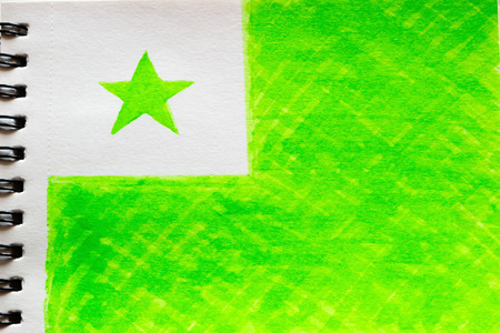 painted flag of Esperanto
