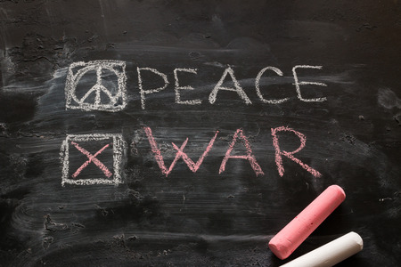 no war concept choose the peace on a black background
