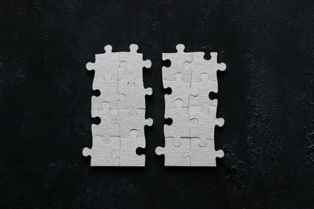 business concept details puzzle on black background 免版税图像