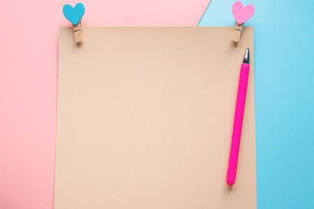 blank note for valentines day with copy space