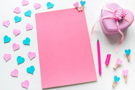 blank page with place for text letter for valentines day Stock Photo