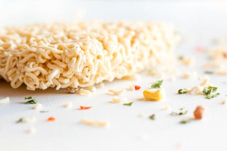 instant noodles on a white background close-up Reklamní fotografie
